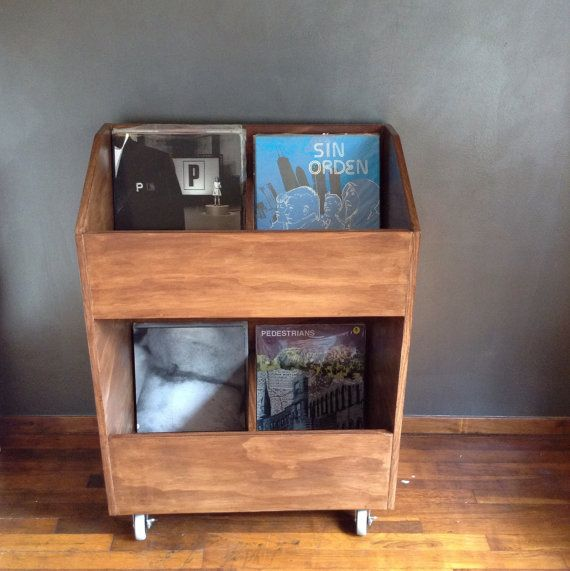 LP Vinyl Record Storage Shelf 500 capacity Record by Darkuva
