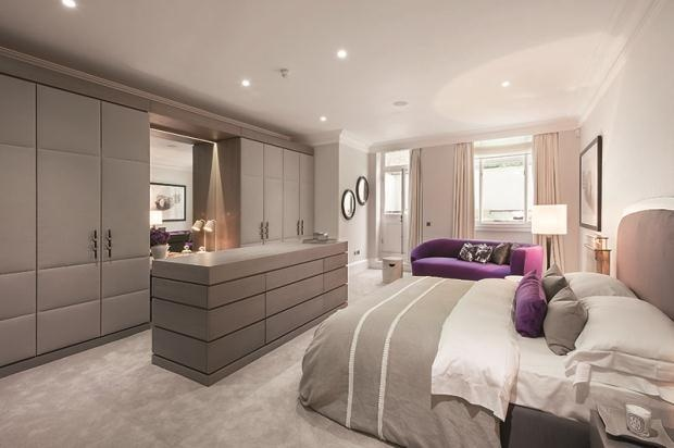 grey and purple bedroom home decor pinterest