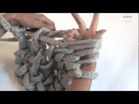 Bufanda hecha con los dedos (TRICO y CROCHET-madona-mía)
