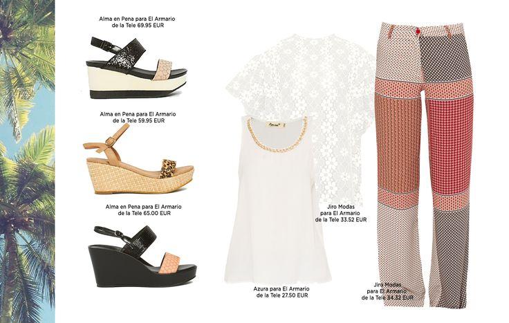 Cuñas y pantalones palazzo. Descubre los imprescindibles en tu maleta de verano en nuestra tienda online.