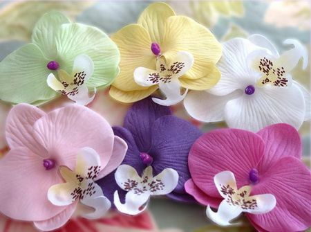 orchid flower soaps 2 orchid soaps per container orchid wedding orchid wedding favor