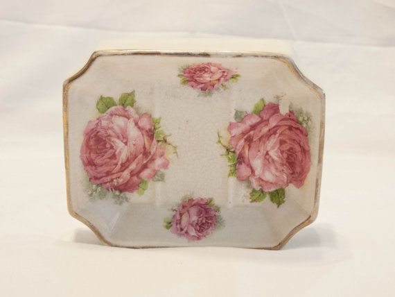 Image Gallery For Website Antique Pink Rose Soap Dish Antique Soap Dish by bettysantiques