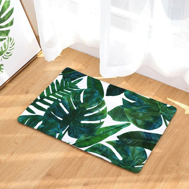 New Modern Leaf Leaves Bath Bathroom Shower Floor Rug Mat Carpet Free Shipping