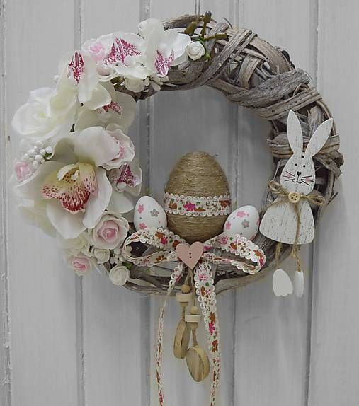 CATrin / Veľkonočný veniec v jemných ružovo-bielych odtieňoch