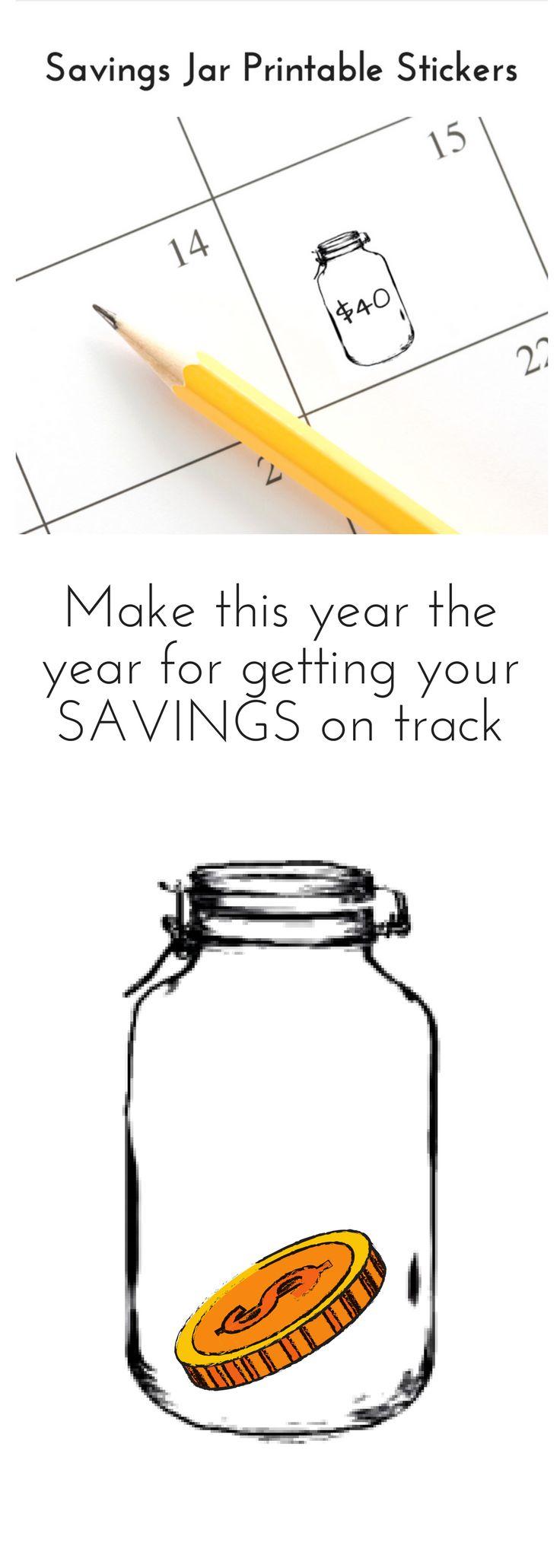 printable stickers planner calendar savings budget happy planner