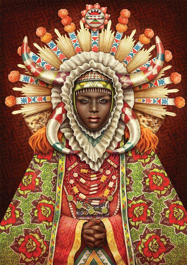 African Madonna by Studio Muti , via Behance