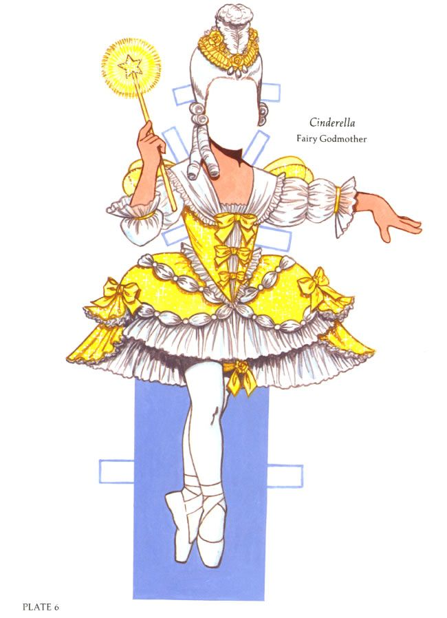 Dover Publications Ballerina Fairies Paper Doll