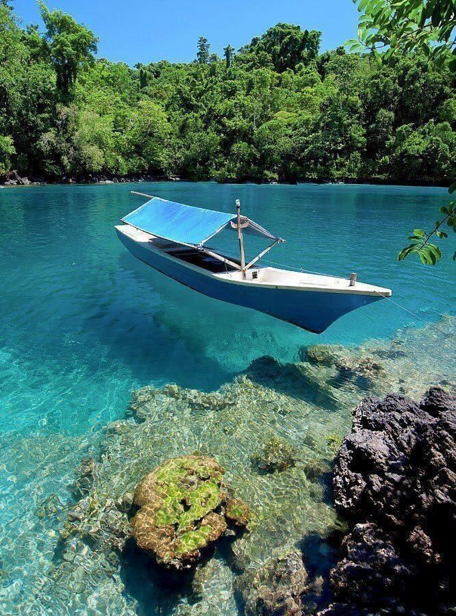 Beautiful clear waters in North Maluku, Indonesia
