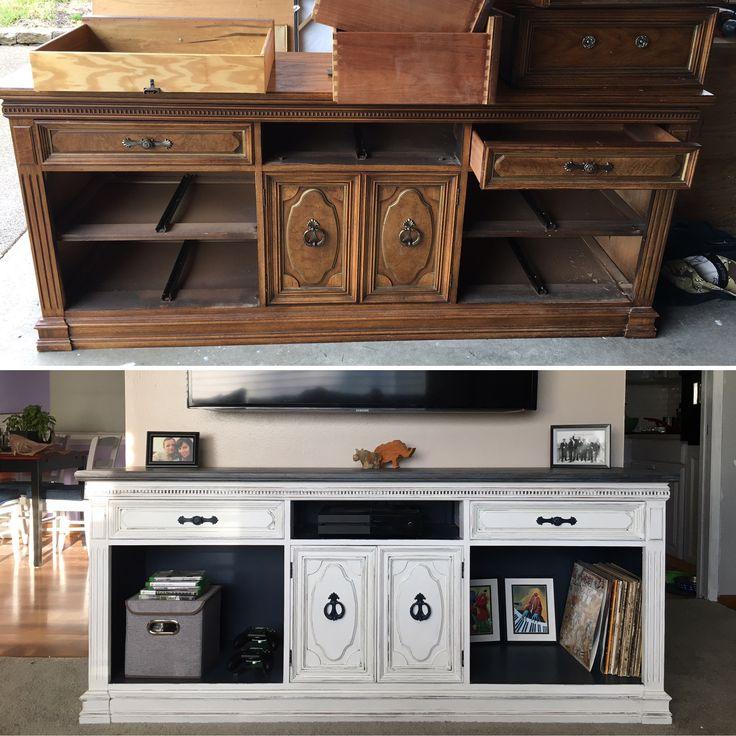 best 25 dresser entertainment centers ideas on pinterest refurbished dressers tv stand. Black Bedroom Furniture Sets. Home Design Ideas