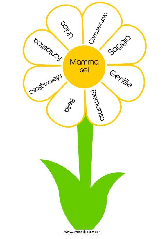 Biglietto auguri Festa della Mamma   Fiore in festa della mamma