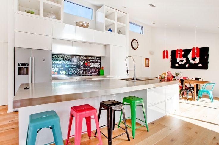 chalkboard wall     contemporary kitchen by Lucy G Creative NZ Photography & Splashbacks