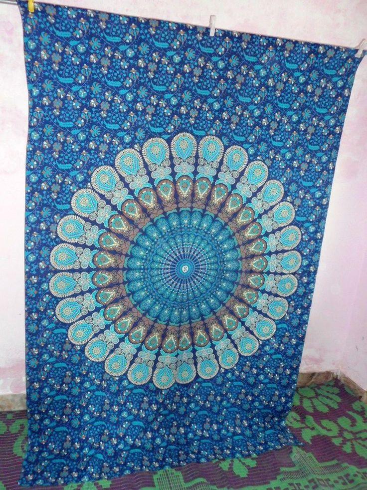 Indian Queen MandalaTapestry Mandala Hippie Tapestry Bedspread #Handmade