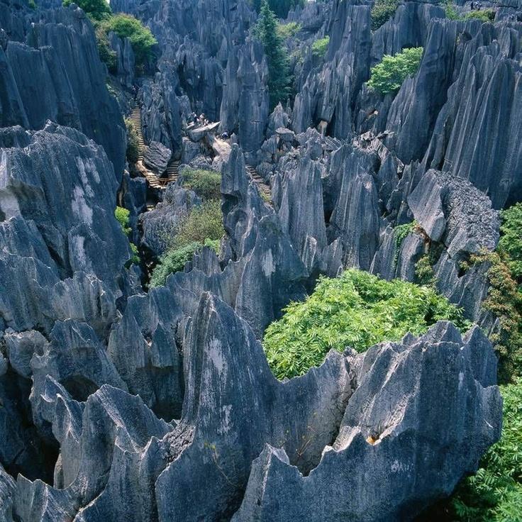 The Yunnan Stone Forest, Shilin, Kunming, Yunnan, China. #NomadsSecrets