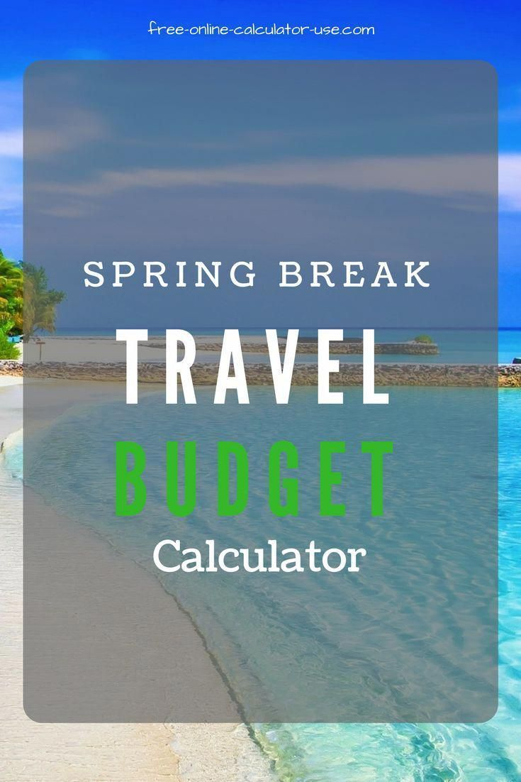 This Free Online Travel Budget Calculator Will Help You To For A Family Vacation By Allowing Create Your Own Self Calculating Worksheet