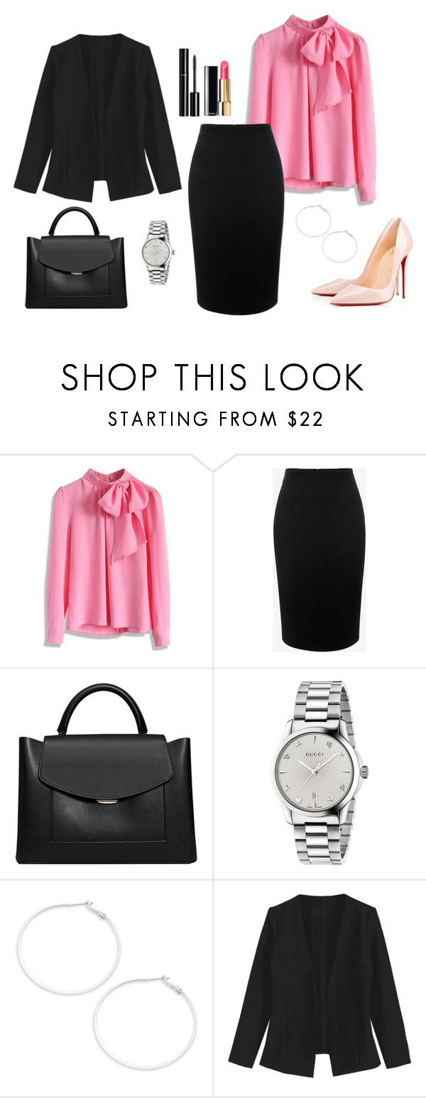 """""""Untitled #350"""" by bajka2468 on Polyvore featuring Chicwish, Alexander McQueen, MANGO, Gucci, Chanel, Design Lab and Christian Louboutin"""