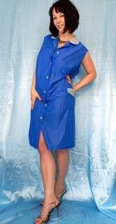 lange Glanz SCHÜRZE Dederon Kittel/ Kleid/ tablier* XL 48 Vintage