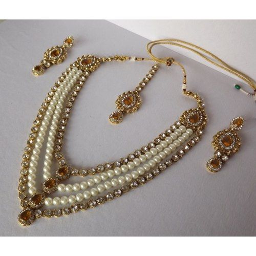 Haar Style Kundan and Pearl Necklace Set