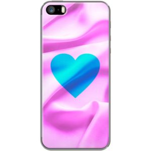 Silk Heart By Fimbis for                           Apple  iPhone 5/5s  #fimbis #thekase #heart #silk #blue #style #styleblog #fashion #fashionblogger #fashionblog #styleblogger #iphone6 #designer #iphone6plus #typography #love #pink #mode #blogdemode #coques #fblogger #coquesiphone #Noel #Noël #festive #defete #defête #idéesdenoël #francais #christmasgiftideas