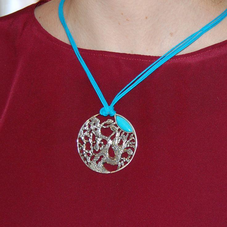 Stunning fantasy necklace, Fantasy jewelry, Turquoise pendant, Handmade tree…