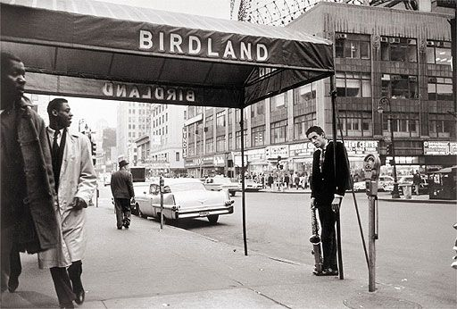 This picture above is of Chet Baker outside Birdland, New Yorks hottest jazz club of the 50s and 60s.