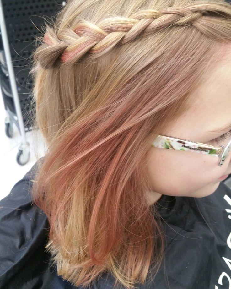 #braid #girl #hair #pink #blond #mywork #