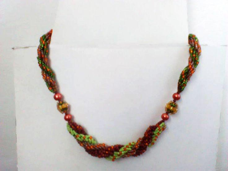 Collier ras du cou double et triple spiral : Collier par crochet-et-bijoux-unique