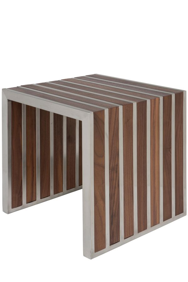 This bench by Nuevo is part of their American Amici Jr collection and comes in a natural walnut finish. Click the image for more details or click here: http://www.likemodern.com/products/american-amici-jr-stainless-steel-natural-walnut-bench.html #benches #furniture