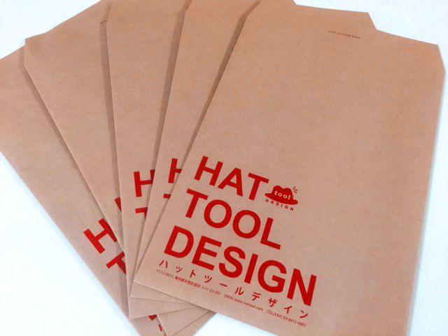 おしゃれな会社の封筒デザイン