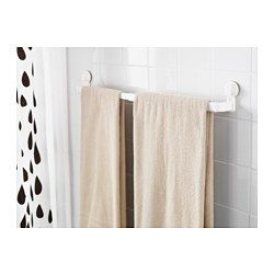 IKEA - STUGVIK, Towel rack with suction cup, , The suction cup grips smooth surfaces.You can adjust the towel rack to your needs as it is extendable.