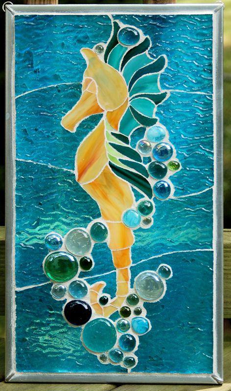 Mosaic Seahorse Pattern Images Witra E Pinterest