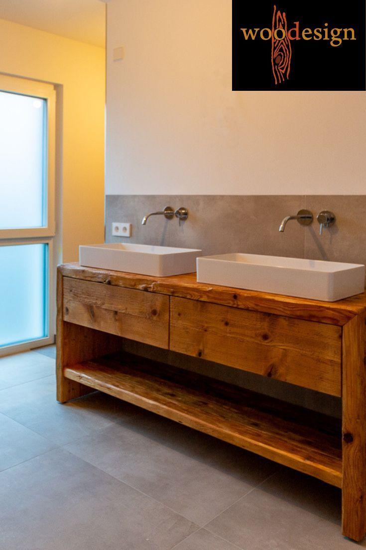 Waschtisch Aus Altholz Inspiration Fur Ihr Badezimmer Badezimmer Holz Badezimmer Waschtische Badezimmer