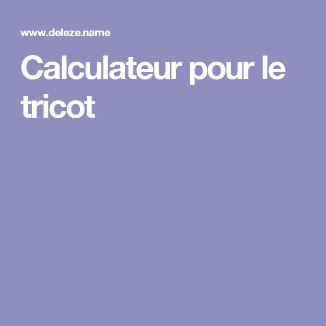 Calculateur pour le tricot