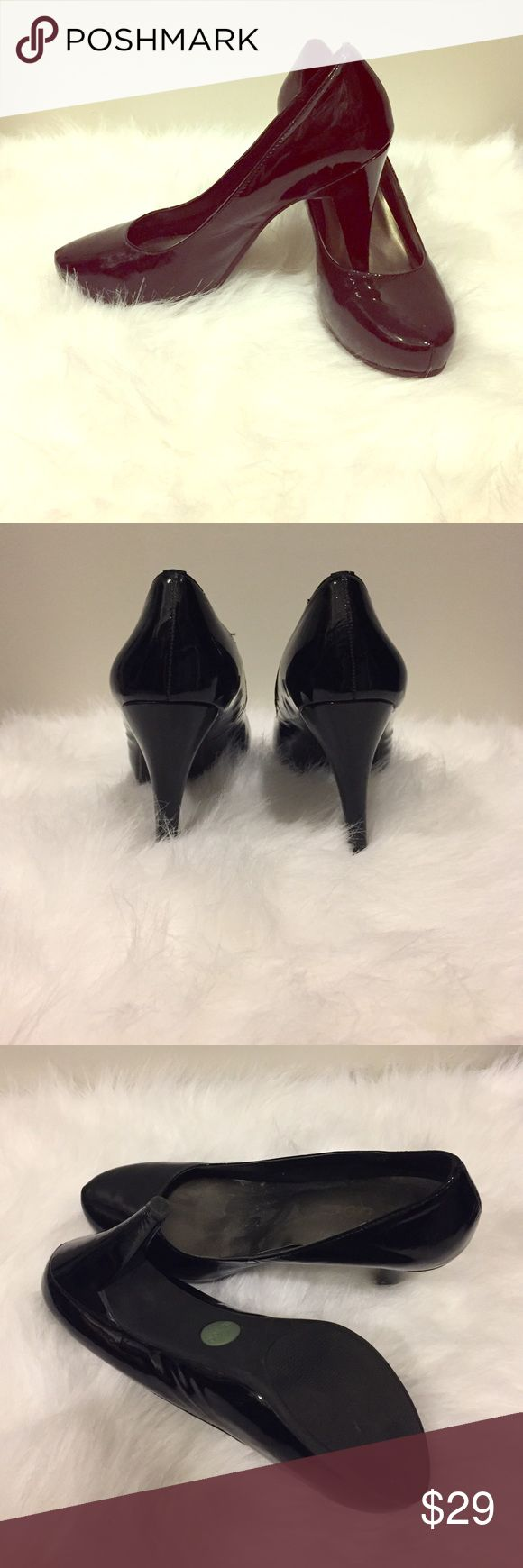 Me Too Black Patent Shoes Like new I only wore once! Size 8M. Black Patent High Heel me too Shoes Heels