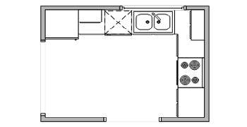 L-alakú konyha elrendezés