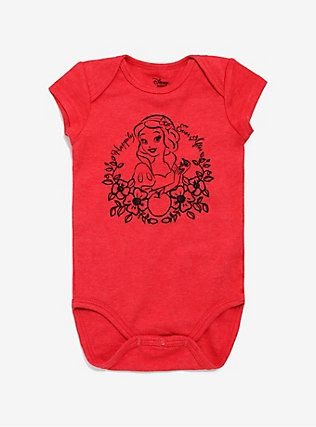 Disney Snow White And The Seven Dwarfs Baby Bodysuit, RED