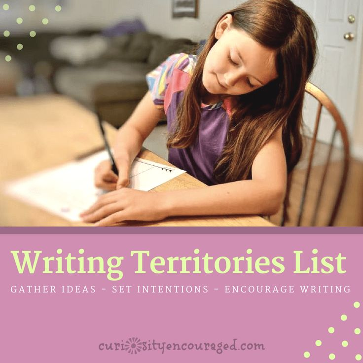 Do you have eager writers at home or in the classroom? Do you have reluctant writers? Help your writer (no matter their ability) create a Writing Territories List- Encourage the Love of Writing. This will!