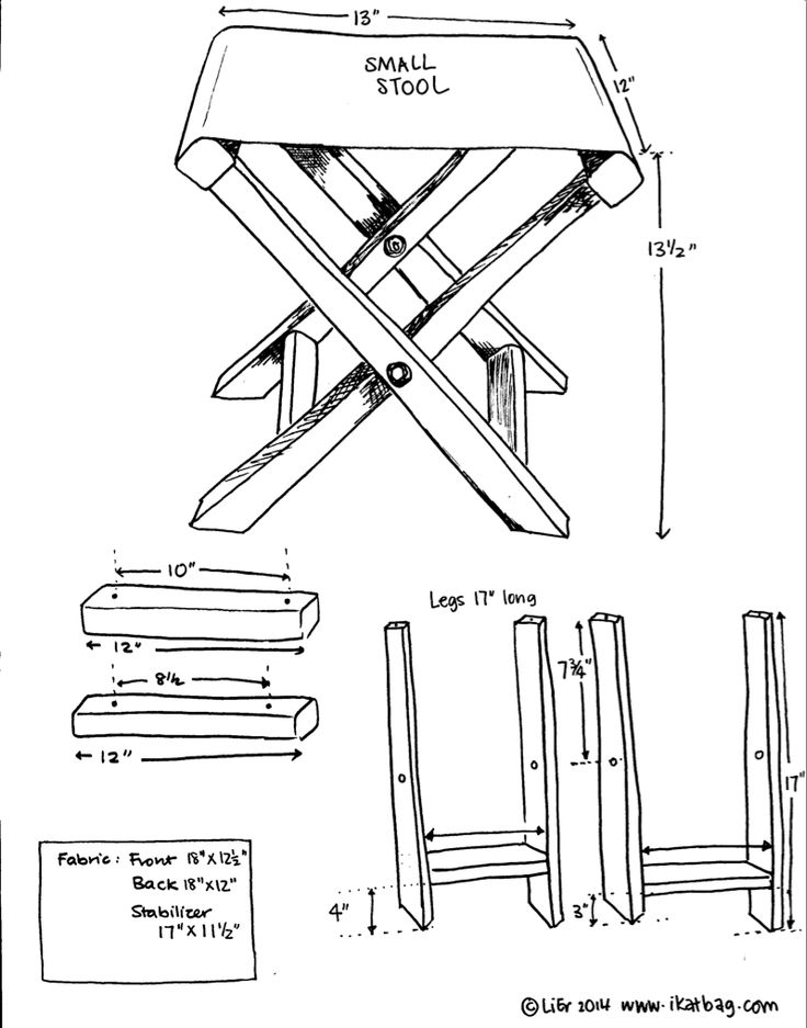 How to make a folding camp stool