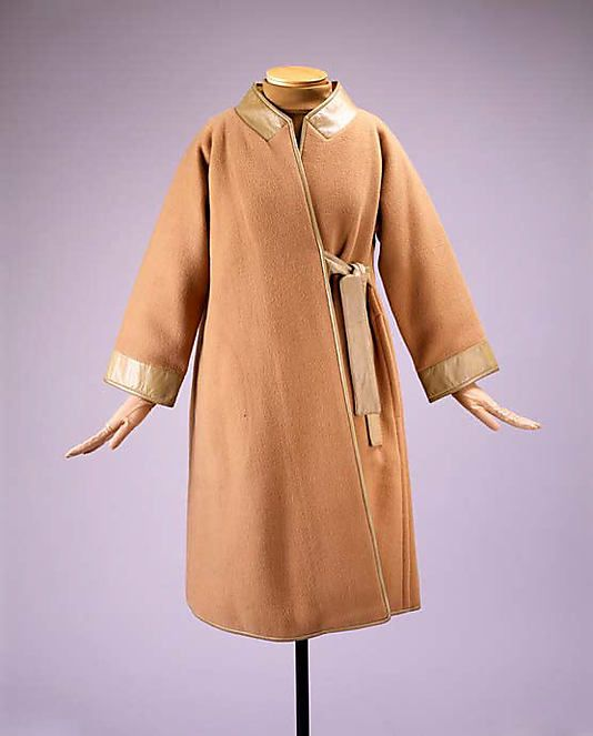 Bonnie Cashin coat in wool and leather. Spring/Summer 1964. Gift of Helen and Philip Sills Collection of Bonnie Cashin Clothes, 1979. The Metropolitan Museum of Art online collection.