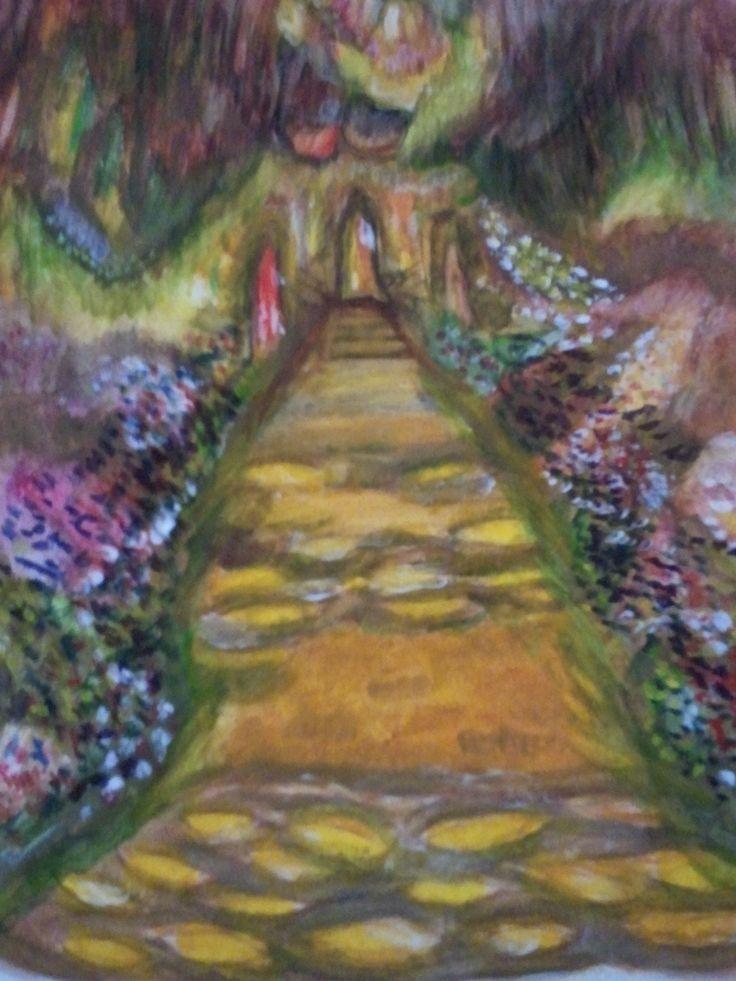 Olhando um jardim de Monet em 2014