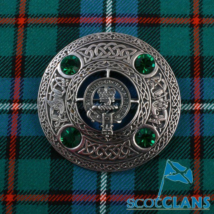 Clan Robertson Plaid Brooch