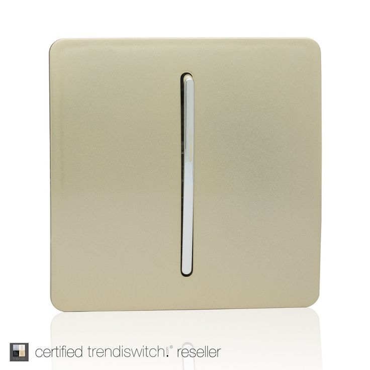 Trendi Switch 1 Gang 2 Way Artistic Modern Glossy 10 Amp Rocker Light Switch Gold: Amazon.co.uk: Lighting