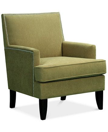 Kendall Fabric Accent Chair Green Accent Chair