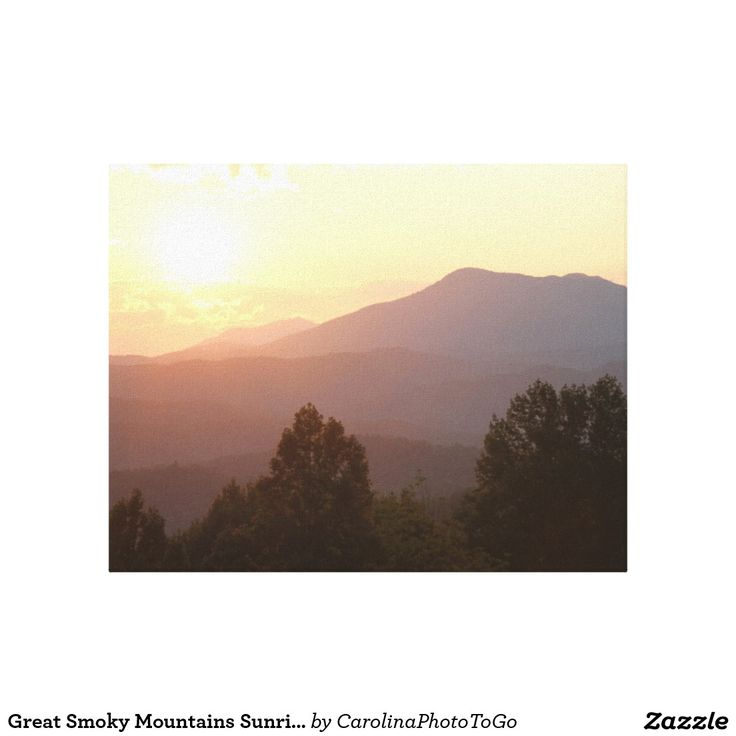 Great Smoky Mountains Sunrise, Photography Canvas Canvas Print