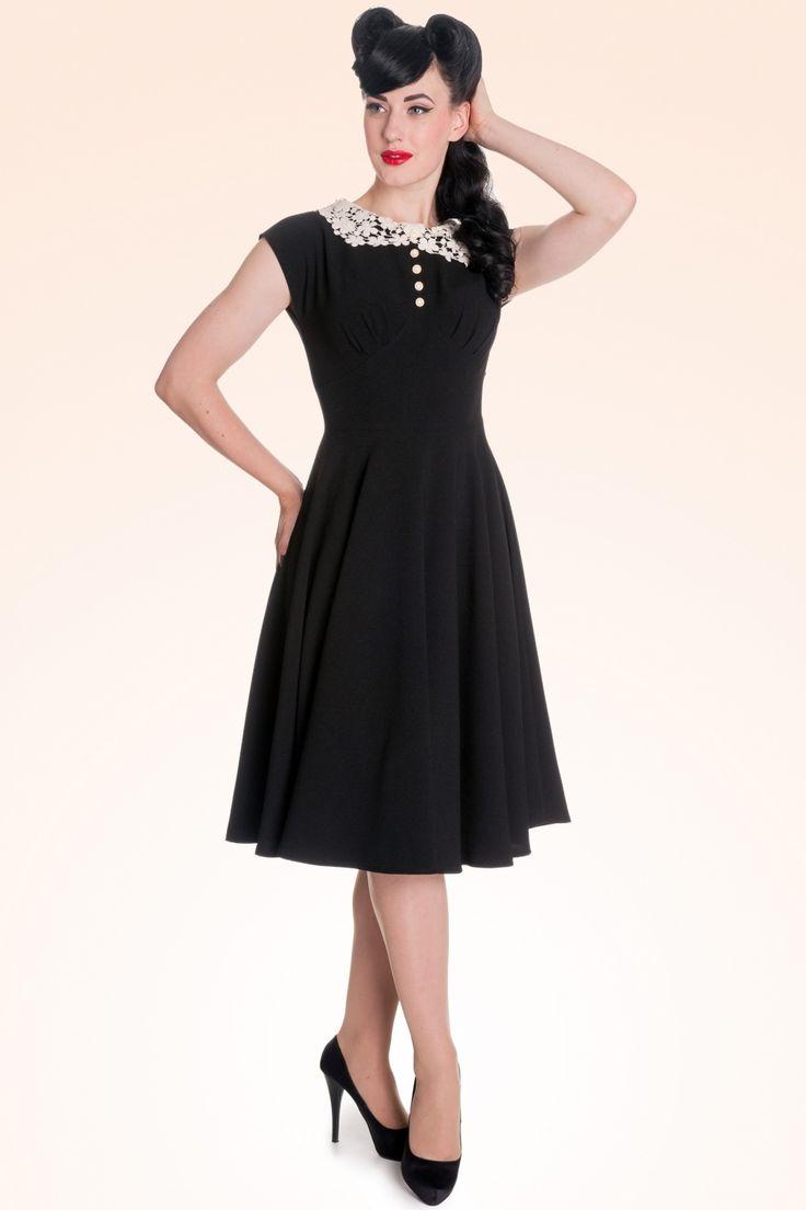 Bunny - 40s Emillie Dress in Black