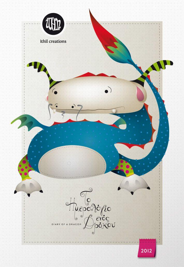 2012 Diary of a Dragon Calendar Cover  by zazdesign