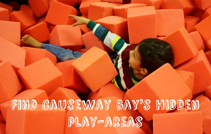 5 hidden play-areas in one of Hong Kong's busiest shopping districts, Causeway Bay. Places to escape the hurley-burley and let your children blow off some steam. #hongkong #playrooms