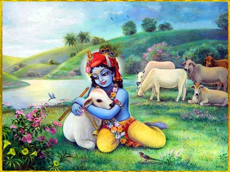 New Bhagwan Krishna Gayya mayya Wallpapers for free download