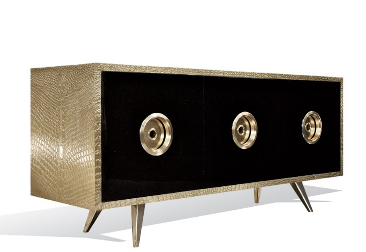 CROCODILE CREDENZA   The Crocodile Brass Credenza by Oliver Bowien   See more at: www.bocadolobo.com #moderncabinets #luxurysideboard