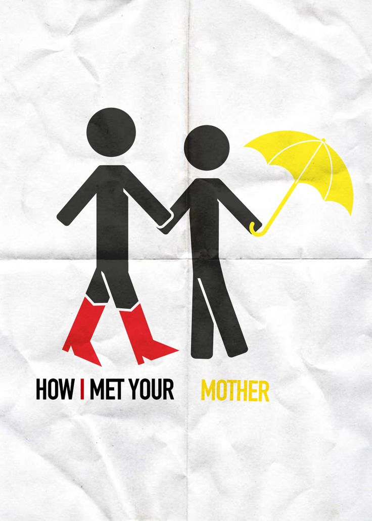 Ted's red boots and the mother's umbrella