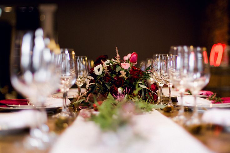 Wedding tablescape inspiration, with some neon glow.